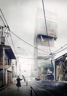 Best of Week 33/2016 - Japanese Rainshowers by stuurloos - Ronen Bekerman - 3D Architectural Visualization & Rendering Blog
