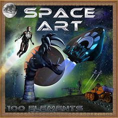 Space Art - the science fiction art kit  #Mischiefcircus