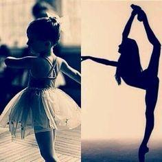 Who she was vs who she became!  Dreams do come true!