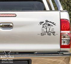 Die bosveld stilte roep my Vinyl Decal Sticker Wildlife Safari, Kruger National Park, Vinyl Decals, African, Trucks, Stickers, Car, Automobile, Track
