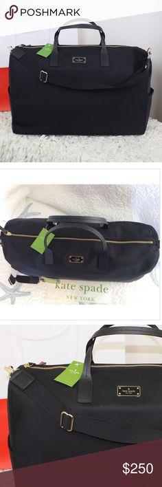 "Black Kate Spade Duffle/Travel Bag Kate Spade XL BLAKE Avenue Filipa Weekender Duffle Travel Bag  Type: Weekend/Travel Bags  Measurements: 20""L x 13""H x 9""W  Color: Black, Black avenue   Brand: Kate Spade  Fabric: Nylon/Leather  Style/Collection: NWT KATE SPADE BLAKE AVENUE FILIPA WEEKENDER BAG  Style: Weekend/Travel Bags kate spade Bags Travel Bags"