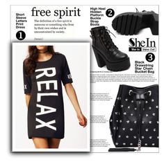 """SheIn V-01"" by shambala-379 ❤ liked on Polyvore featuring Sheinside, blackoutfit, polyvorefashion and shein"