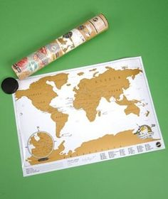 This scratch map which lets you mark the countries you've visited | Community Post: 23 Holiday Gifts For The Travel Addict In Your Life