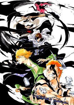Bleach Manga, Ichigo Manga, Bleach Ichigo And Rukia, Bleach Fanart, Manga Art, Manga Anime, Anime Art, Dope Wallpapers, Animes Wallpapers
