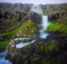 Dynjandi waterfall in the west fjords, Iceland