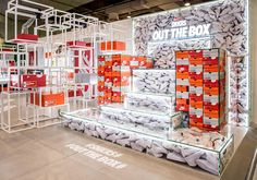 Showcase and discover creative work on the world's leading online platform for creative industries. Stand Design, Display Design, Booth Design, Icon Design, Aesthetic Design, Set Design, Shoe Display, Visual Display, Retail Store Design