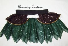 Zarina Pirate Fairy inspired green and black  by RunningCouture