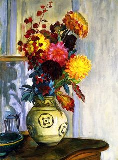 Henri Lebasque - Bouquet of Flowers in a Vase