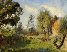 George Clausen (1852-1944), Summer Afternoon (n.d.), oil on canvas, 45.7 x 35.5 cm.