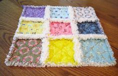 This sweet little baby rag quilt lovey / security blanket is perfect for newwborns, babies, or toddlers. Babies love the feel of the soft