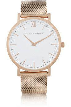 Larsson & Jennings CM rose gold-plated watch | NET-A-PORTER