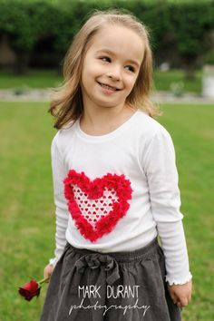 Valentine's Pink Ruffled Heart Onesie or Shirt by sweetlilytutus, $16.00
