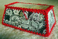 Jaden's Hanky Box (Robyne Melia is Bobby La) Tags: crochet card boxes cardboxes crochetedbox crochetedcard