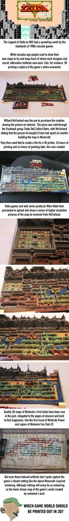 Original The Legend of Zelda Map Gets Printed In 3D - 9GAG