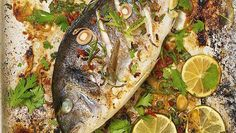 Lemon Grass and ginger small sea bream or mullet fish Fish Dishes, Seafood Dishes, Fish And Seafood, Greek Recipes, Fish Recipes, Mullet Fish, Fish Jumps, Greek Cooking, Cooking Fish