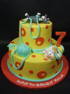 Kitty Cats 7th Birthday Cake