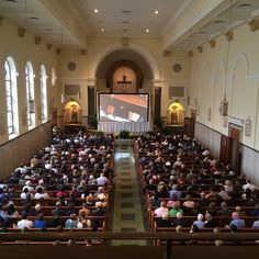 Some 500 people are in a chapel joined to the Basilica where Pope Francis is serving Mass. #PVatPope