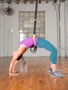 Wheel: Step 3 #trx #yoga # http://greatist.com/move/trx-yoga-workout