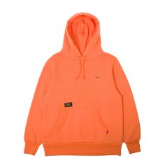Classic Hellweek Hooded Sweatshirt from Wtaps. This classic piece features premium cotton/poly/rayon constructionw with fleece backing, embroidered detailing on the chest and hood, ribbed gussets, collar, cuffs and hem, adjustable drawstring hood, pouch pocket, plus signature Wtaps' branding throughout.