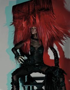 """Maria Borges wears a Louis Vuitton playsuit in """"Warrior Stance,"""" Photo by Steven Klein. W Magazine March 2014."""