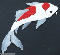 Koi stained glass precut kit. Great for your mosaic inlay projects. Selling on ebay or contact me directly rachellkratzer@aol.com