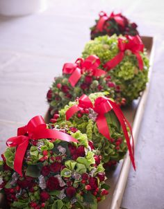 Beautiful Christmas flower pomanders by Interflora- the Flower Experts.