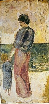 Mother and child on the beach - Pablo Picasso, 1902
