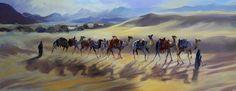 """""""Caravan Contre jour"""" oil on canvas by Trevor Waugh trevorwaugh.com"""
