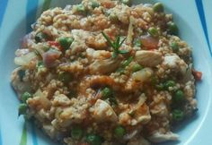 Mediterrán köles Green Eggs And Ham, Fried Rice, Fries, Ethnic Recipes, Food, Diet, Bulgur, Meal, Essen
