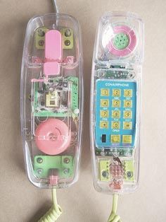 Clear phone that would light up when it would ring and you could turn off the ringer.  I spent many nights on the phone all night!
