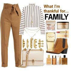 What I'm thankful for...FAMILY by nothing-better-than-a-riddle on Polyvore featuring moda, Maje, Sara Battaglia, Bruno Premi, Fendi, Luv Aj, Too Faced Cosmetics, Yves Saint Laurent and Michael Kors