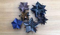 Video: Fold smukke stjerner af 5 kvadratiske stykker papir som julepynt. Se videoen her.