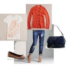 loverly orange cardigan, oh how I love cardigans