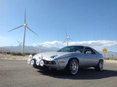 MY 1986 PORSCHE 928S OUT AT THE WINDMILL FARM IN PALM SPRINGS CALIFORNIA.