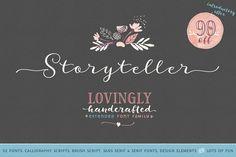 Storyteller Extended (intro 90%off!) by MyCreativeLand on Creative Market