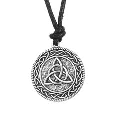 Punk Knotwork Triquetra Trinity Fashion Rope Ethnic Necklace Women Portugal Pendant Wicca Charm Pagan Jewelry - free shipping worldwide