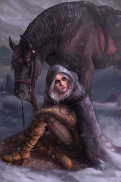 Ciri by Elesteyzis.deviantart.com on @DeviantArt
