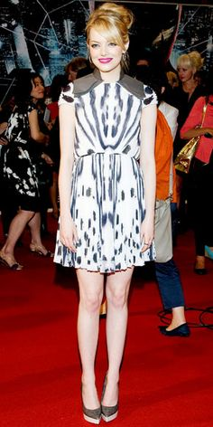 Look of the Day - June 17, 2012 - Emma Stone in Fendi from #InStyle