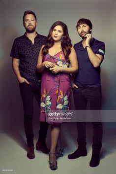 Hillary Scott, Charles Kelley, and Dave Haywood of American country music group Lady Antebellum are photographed at the 2017 CMA Festival for Billboard Magazine on June 8, 2017 in Nashville, Tennessee.