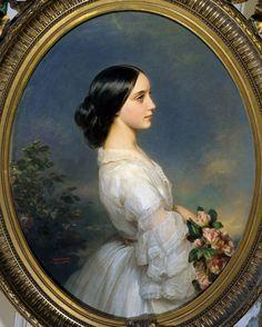 Franz Xaver Winterhalter German School Portrait of Carmen Ida Aguado 1860 Oil on canvas 093 x 074 m Versailles Chateaux de Versailles et de Trianon