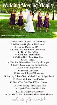 Melanie Gets Married: Wedding Morning Playlist