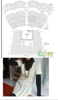 Crochet  Diagram Dress Tunic