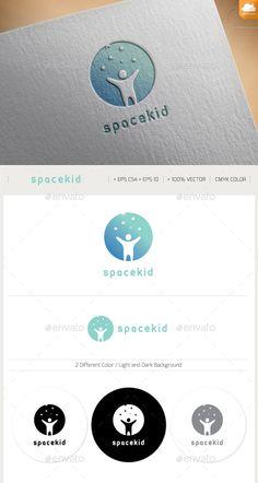 Space Kid Logo Design Template Vector #logotype Download it here: http://graphicriver.net/item/space-kid/11101831?s_rank=190?ref=nesto