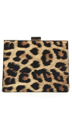 Box Animal Clutch LEOPARD