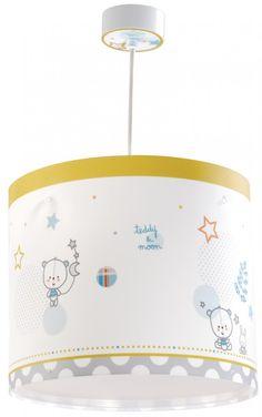 Teddy & Moon Παιδικό Φωτιστικό Οροφής με Διαχυτή Φωτός