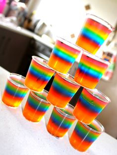 My Rainbow Vodka Jelly Shots!