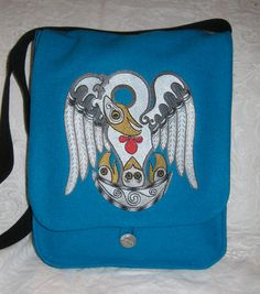 Norse Style Pelican Haversack by TheHoodedHare on Etsy