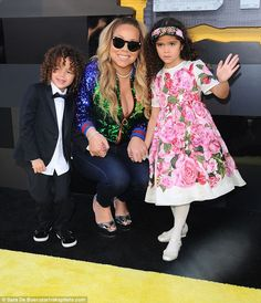 Devoted mom: On Saturday, Mariah stepped out for premiere of the movie in Westwood, California with her five-year-old twins Moroccan and Monroe