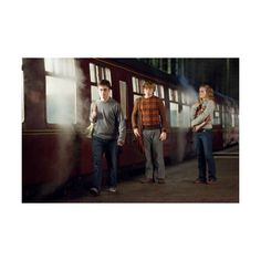 Daniel Radcliffe, Rupert Grint, and Emma Watson Photo - Harry Potter... ❤ liked on Polyvore featuring harry potter