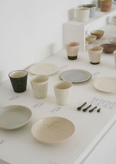 ceramics in soft colours